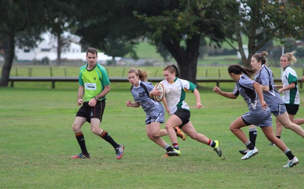 Georgia Daals in action against AUT at the UTSNZ National Tertiary Sevens Championship selection event held in April this year.